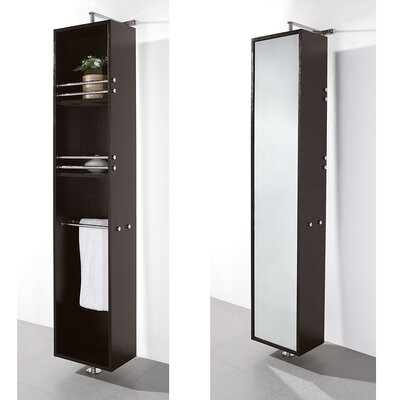 Wyndham Collection Claire Rotating Bathroom Cabinet in Espresso