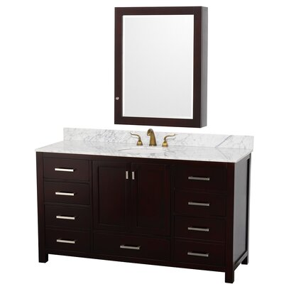 "Wyndham Collection Abingdon 61"" Single Bathroom Vanity Set"