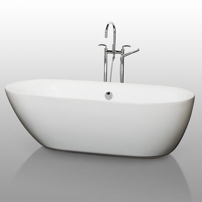 "Wyndham Collection Melissa 71"" x 33"" Bathtub"