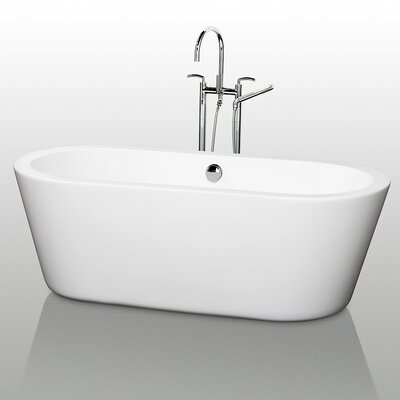 "Wyndham Collection Mermaid 71"" x 34"" Bathtub"