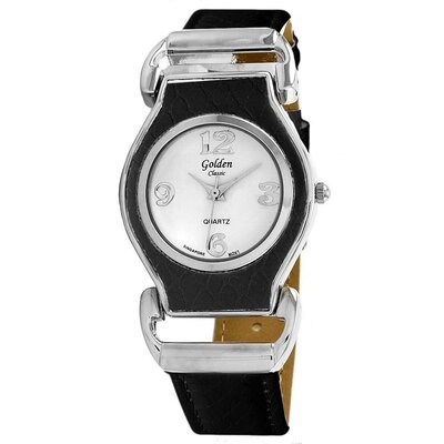 Golden Classic Women's Dashing Aviator Watch in Black