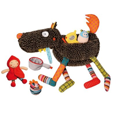 Crazy Cuddly Wolf Plush 6 Piece Play Set