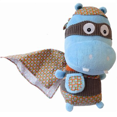 Geared for Imagination Ze Super Zeros Zipo the Hippo Plush Toy