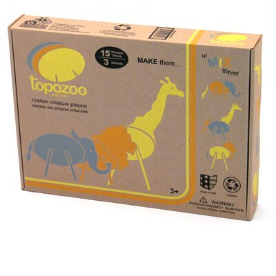 Geared for Imagination Topozoo - Custom Creature Playset - Safari