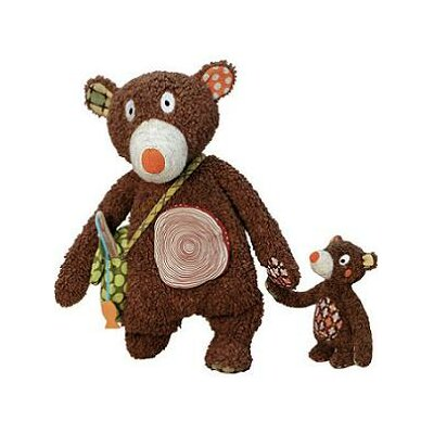 Geared for Imagination Woodours Daddy and Baby Bear Interactive Playset