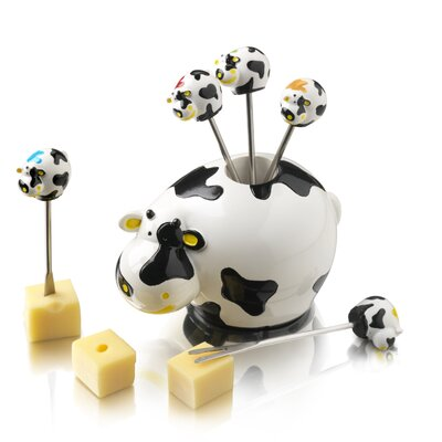 Boska Holland 4 Piece Cow Party Pick Set