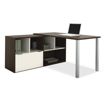 Bestar Contempo L-Shaped Desk with Storage