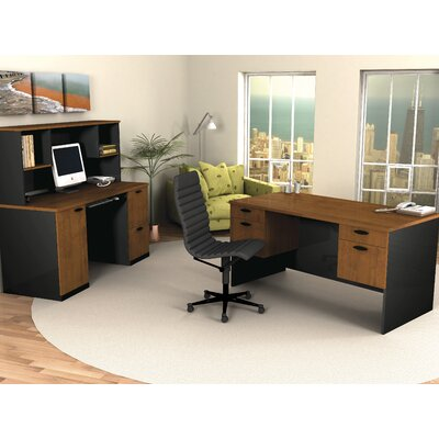 "Bestar Hampton 60"" W Credenza and Hutch"