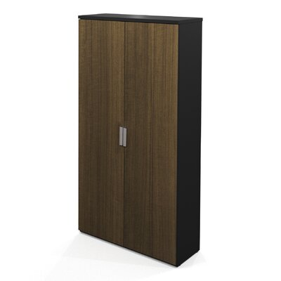 Bestar Pro-Concept Armoire In Milk Chocolate Bamboo & Black