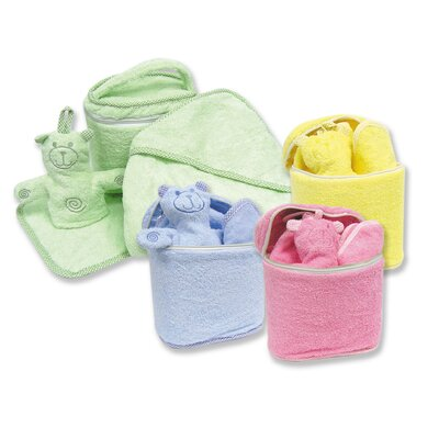 Trend Lab Terry Velour Bath Bag Set in Solid Colors