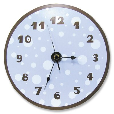 Trend Lab Polka Dots Wall Clock in Blue and Brown