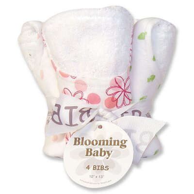 Trend Lab Hula Baby Blooming Bouquet 4 Pack Bib Set
