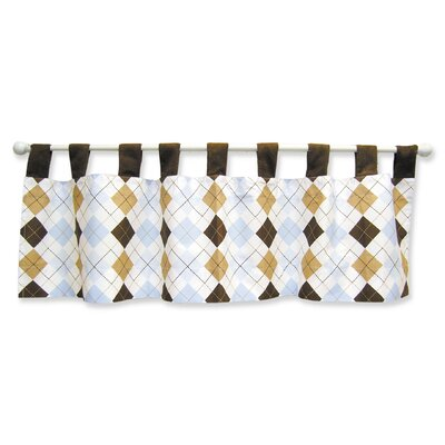 Trend Lab Prep School Blue Tab Top Window Valance