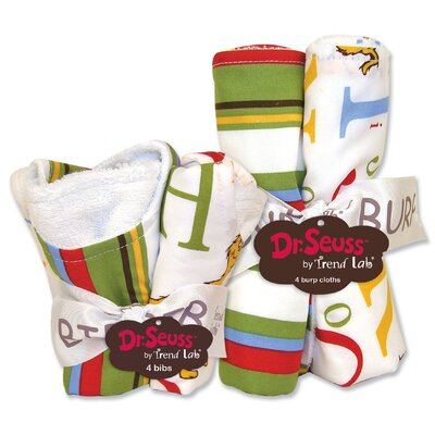 Trend Lab Dr Seuss ABC Bib and Burp Cloth Set