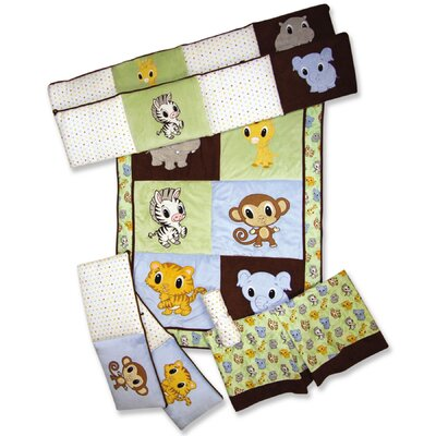Trend Lab Chibi Zoo 4 Piece Crib Bedding Set