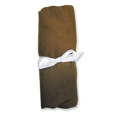 Trend Lab Cotton Percale Chocolate Crib Sheet in Brown
