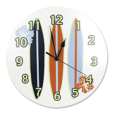 "Trend Lab 11"" Surf's Up Wall Clock"