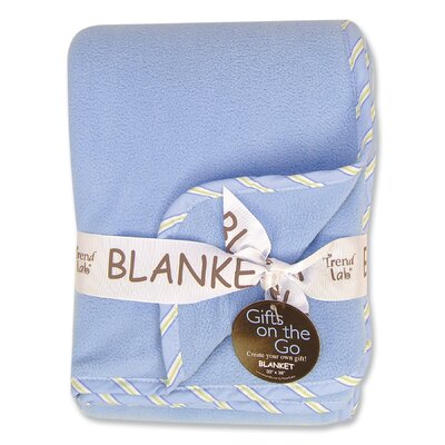 Caterpillar Blue Fleece Receiving Blanket