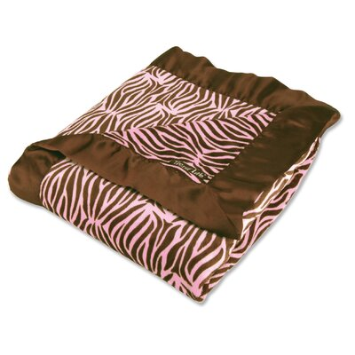 Trend Lab Zebra Receiving Blanket Framed in Pink