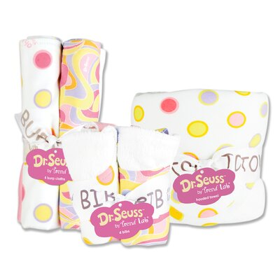 Trend Lab Dr. Seuss Oh The Places You''ll Go Bouquet Bath and Burp Cloth Set