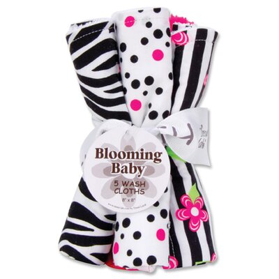 Trend Lab Zahara Hooded Towel and Wash Cloth Bouquet Set