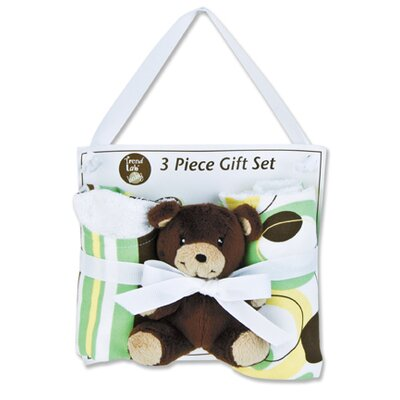 Trend Lab Giggles Bib, Burp and Buddy Gift Set