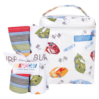 Trend Lab NASCAR Bottle Bag and Burp Cloth Bouquet Set