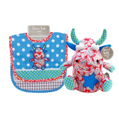 Trend Lab Mommy's Little Monster Bib and Buddy Set