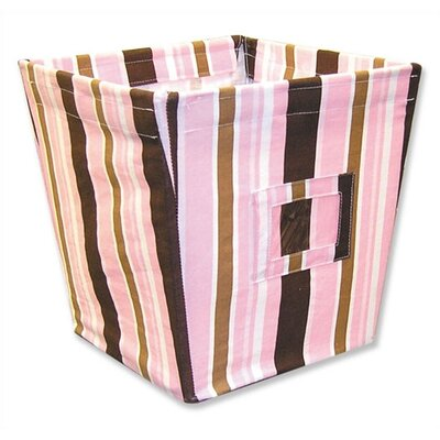 Maya Medium Fabric Storage Bin in Stripes