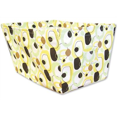 Trend Lab Giggles Large Fabric Storage Bin in Circle Print
