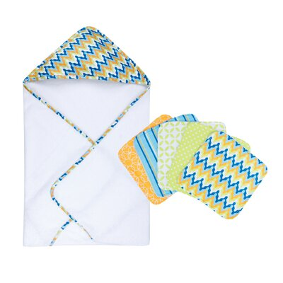 Levi Bouquet Hooded Towel and Wash Cloth Set