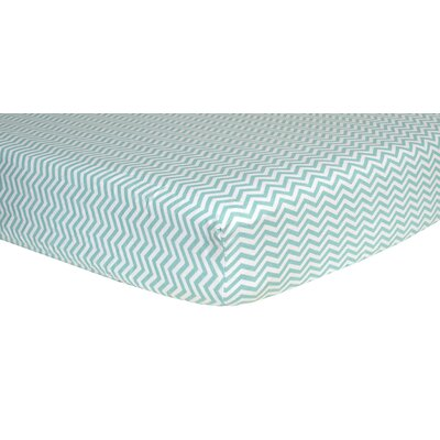 Chevron Print Flannel Crib Sheet