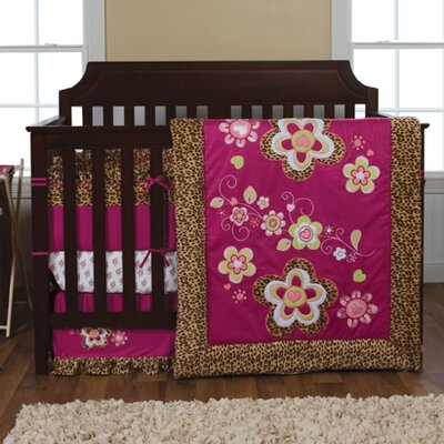 Berry Leopard Crib Bedding Collection