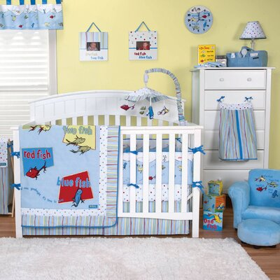 Trend Lab Dr. Seuss 4 Piece Crib Bedding Set
