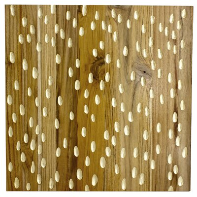 RS Furnishings Pura Vida I Rain Drop Graphic Art Plaque in Natural