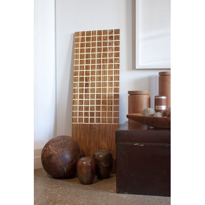 RS Furnishings Pura Vida I Off The Grid Teak Panel in Natural with White Grid ...