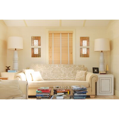RS Furnishings Pura Vida I Rain Drop Teak Panel in Natural with White Step Up and Natural Drops