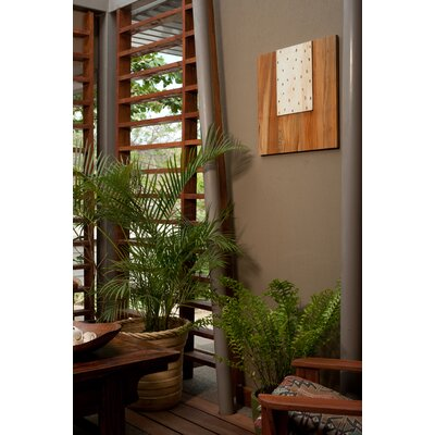 RS Furnishings Pura Vida I Rain Drop Teak Panel in Natural with White Step Up ...