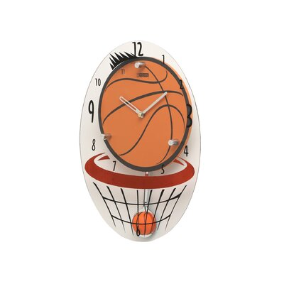 Creative Motion Basketball Hood Wall Clock