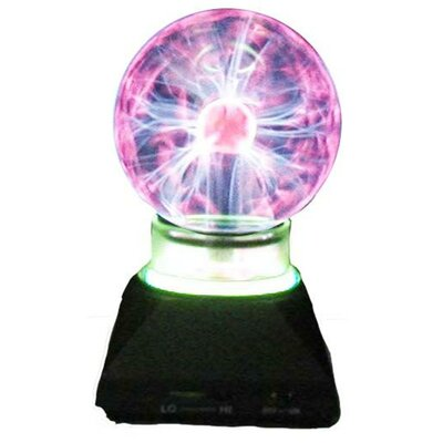 Creative Motion Plasma Ball Table Lamp with Neon Ring