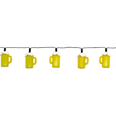 Creative Motion 10 Light Beer Mug String Light