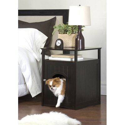 Merry Products Night Stand Pet House in Espresso