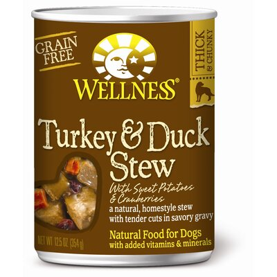 Turkey and Duck Stew with Sweet Potatoes and Cranberries Wet Dog Food (12.5-oz, case of ...