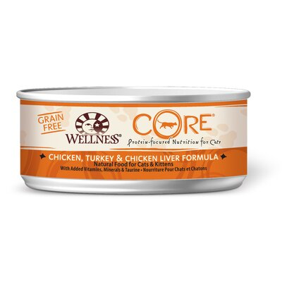 Core Chicken Turkey and Chicken Liver Canned Cat Food (5.5-oz, case of 24)