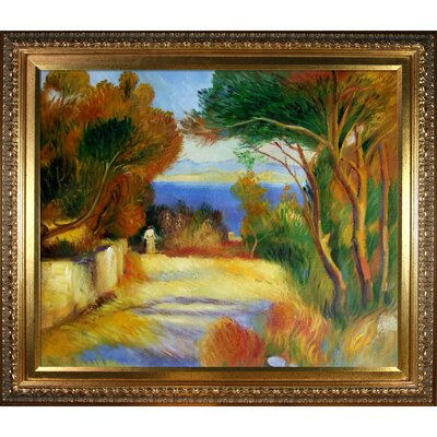 Tori Home L'Estaque by Renoir Framed Original Painting