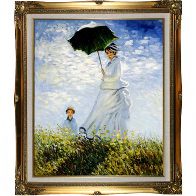 Tori Home Madame Monet and her Son by Monet Framed Original Painting