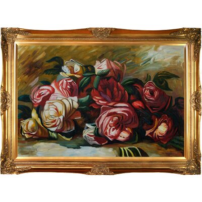 Tori Home Discarded Roses by Renoir Framed Original Painting