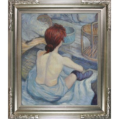 Tori Home Woman at Her Toil by Toulouse Lautrec Framed Original Painting