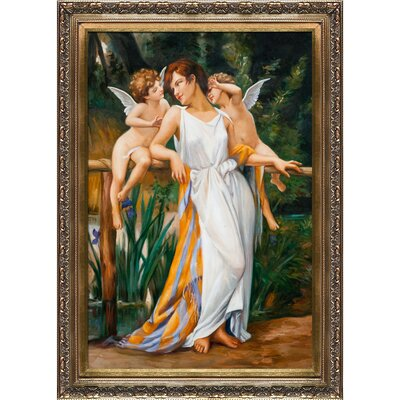 Nymph and Cherubs Seignac Framed Original Painting