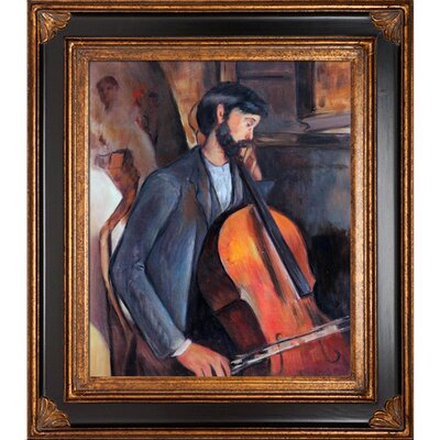 Tori Home The Cellist Modigliani Framed Original Painting
